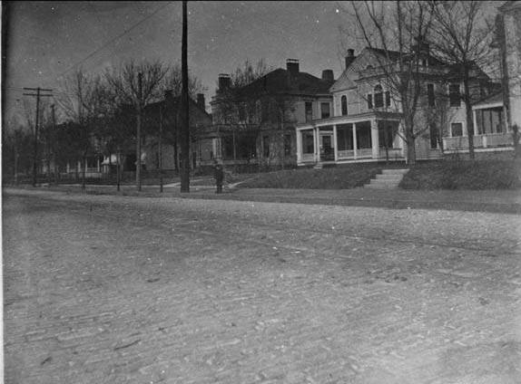 Piedmont Avenue Sometime After 1920 - Shellmont Inn is the Second From Right - Georgia Archives