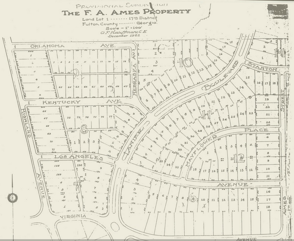 The F.A. Ames Property Map from 1922 - Virginia Highlands Civic Association