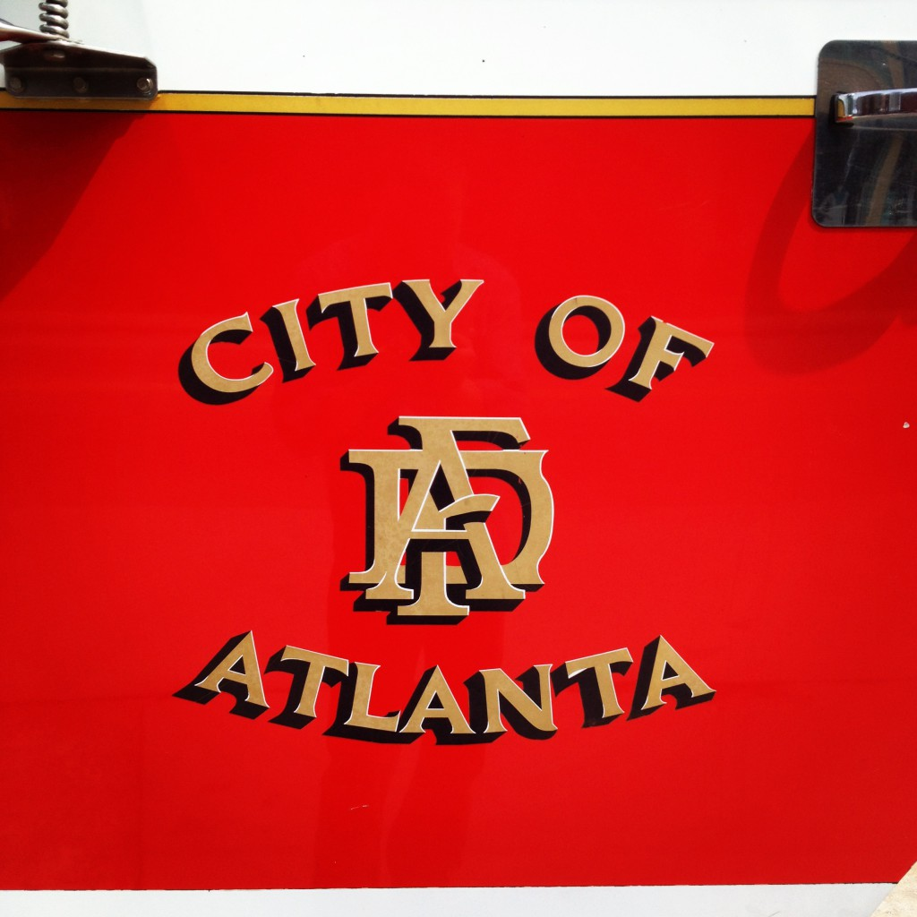 The Fire Truck Outside Atlanta Fire Station No. 19 - History Atlanta 2014