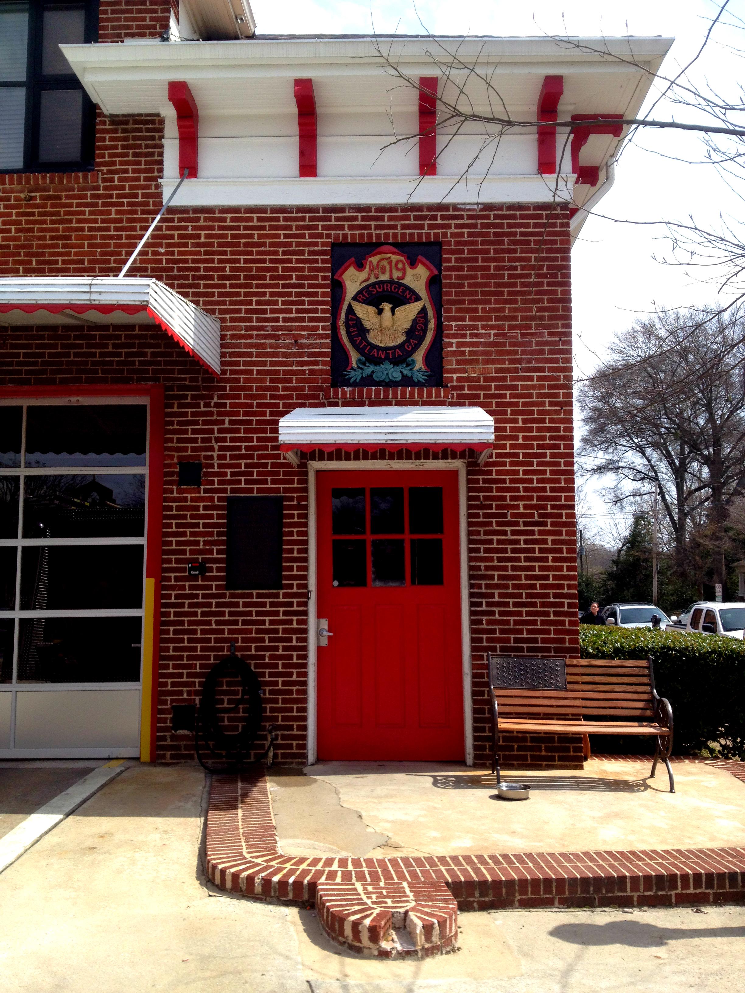 The Front Door Of Atlanta Fire Station No 19 History Atlanta 2014