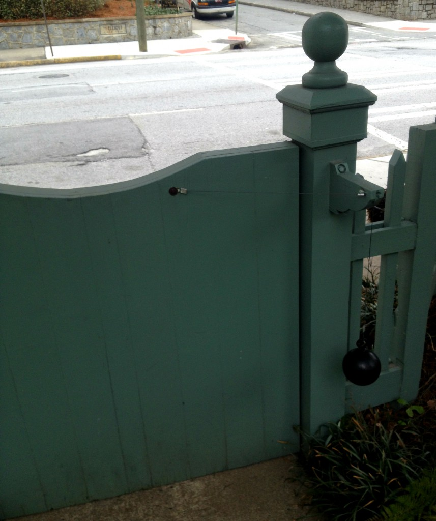 The Front Gate Weight at the Shellmont Inn - History Atlanta 2014