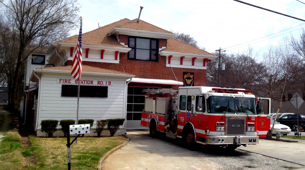 The Front of Atlanta Fire Station No. 19 - History Atlanta 2014