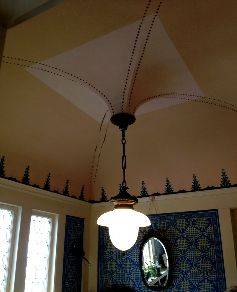The Inverted Dome Ceiling in the Turkish Library at the Shellmont Inn - History Atlanta 2014