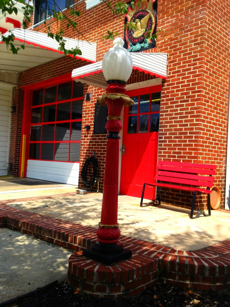 The Light Pole Outside the Atlanta Fire Station No. 19 - History Atlanta 2014