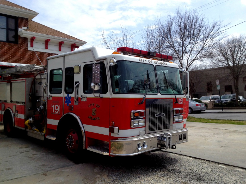 They Pulled the Fire Truck Outside of Atlanta Fire Station No. 19 for the APCs Phoenix Flies - History Atlanta 2014
