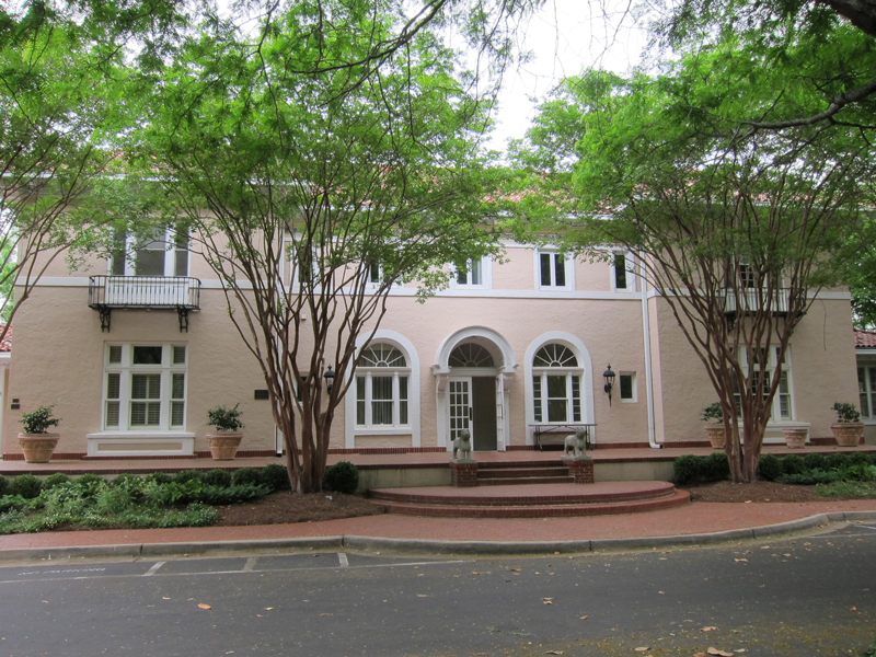 Front of Original Rainbow Terrace Mansion in Druid Hills - Now It's the Lullwater Estate in Three Sections - The Left Section is the Library Where the Murder Took Place - Ray Keen 2014