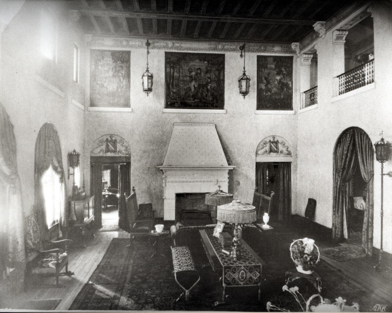 Rainbow Terrace Front Room - The Library is The Next Room - Photograph Courtesy of the Lullwater Estate