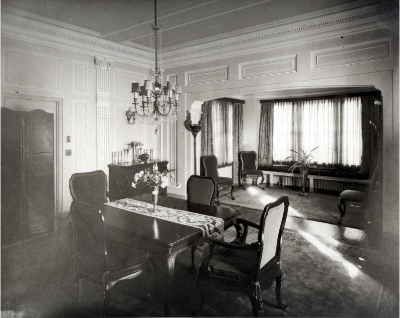The Dining Room where the Burglar Entered the Home - Photograph Courtesy of the Lullwater Estate