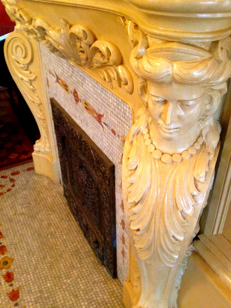 Carvings on one of the Many Fireplace Mantles - History Atlanta 2014