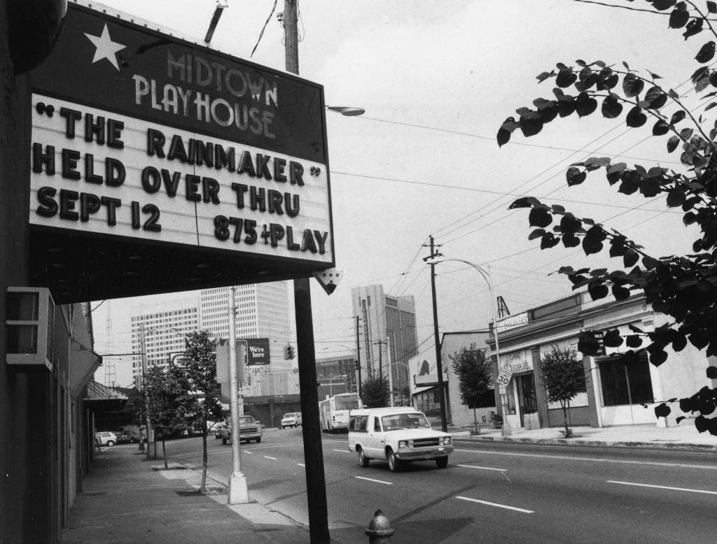 Midtown Playhouse at 10th and Peachtree Streets on September 8th, 1981 - Georgia State University Library