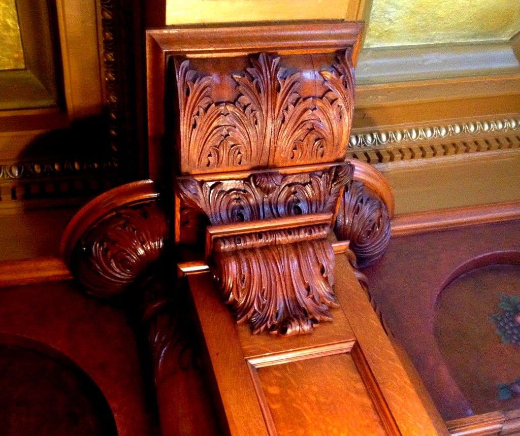 More Hand-Carved Details in Rhodes Hall on Peachtree - History Atlanta 2014