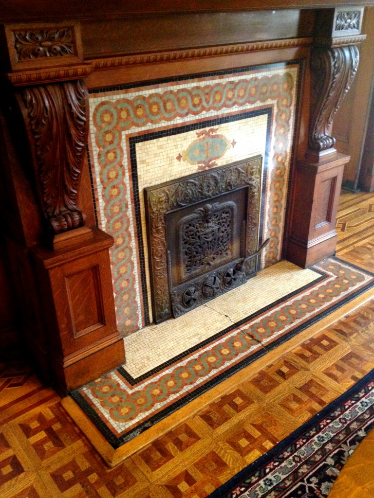 One of the Many Fireplaces at Rhodes Hall - History Atlanta 2014