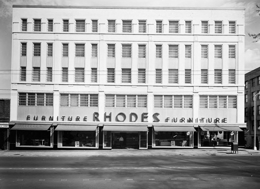 Rhodes Furniture in Atlanta on March 2nd, 1955 - Georgia State University Library