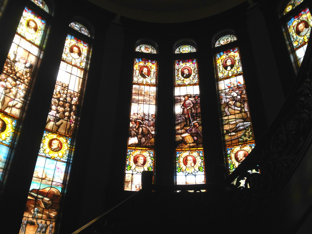 The Magnificent Stain Glass Windows Depicting the Rise and the Fall of the Confederacy at Rhodes Hall - History Atlanta 2014