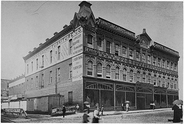 The Rhodes Snook and Haverty Building in Atlanta during the 1890s - Georgia Archives