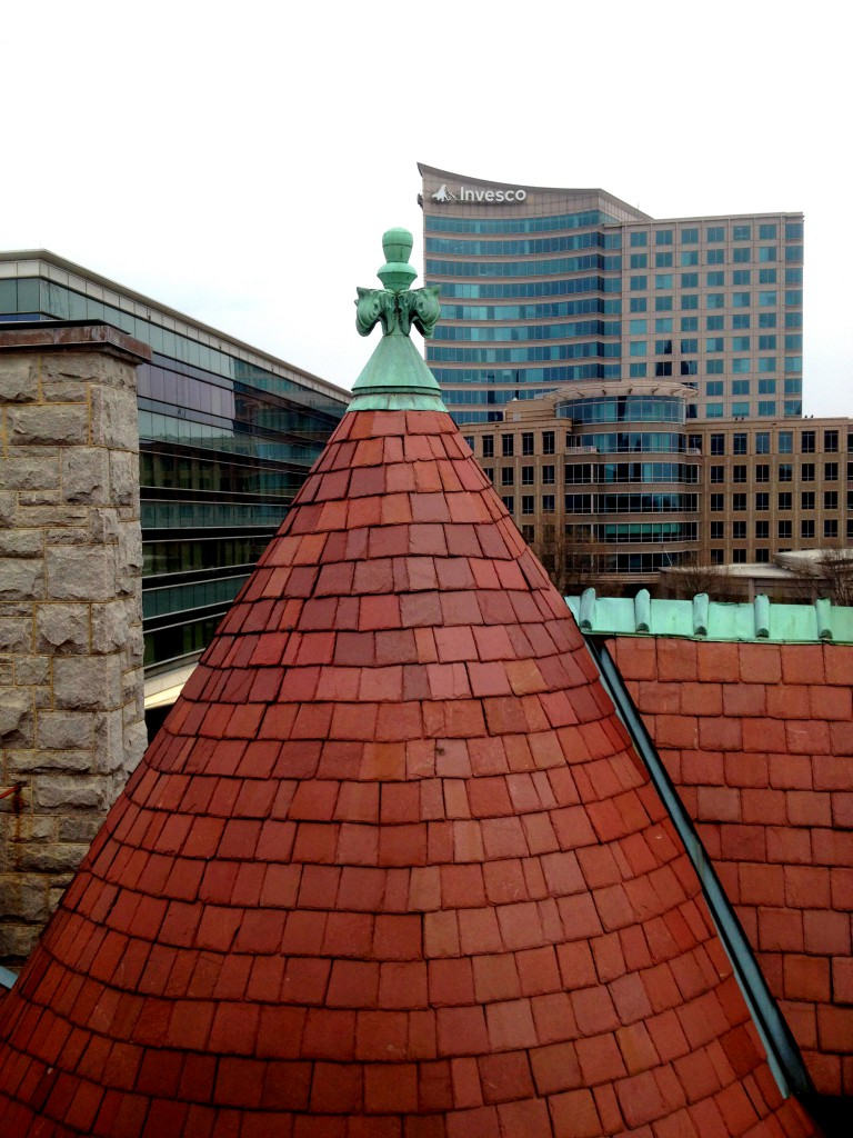 The Roof Top of Rhodes Hall Looking North - History Atlanta 2014