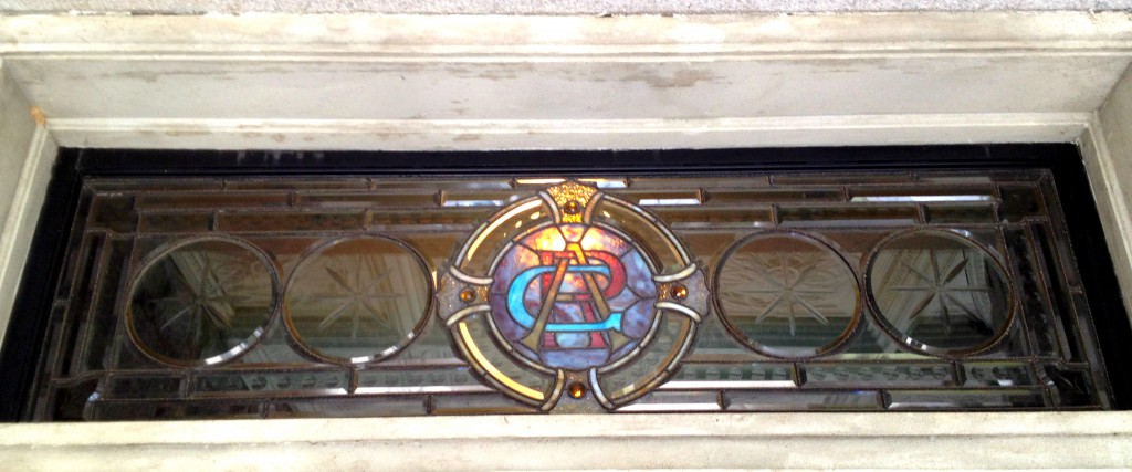 The Stained Glass Above the Front Doorway at Rhodes Hall - History Atlanta 2014