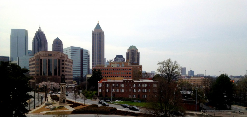 The View from Atop Rhodes Hall looking at the Midtown Atlanta Skyline - History Atlanta 2014