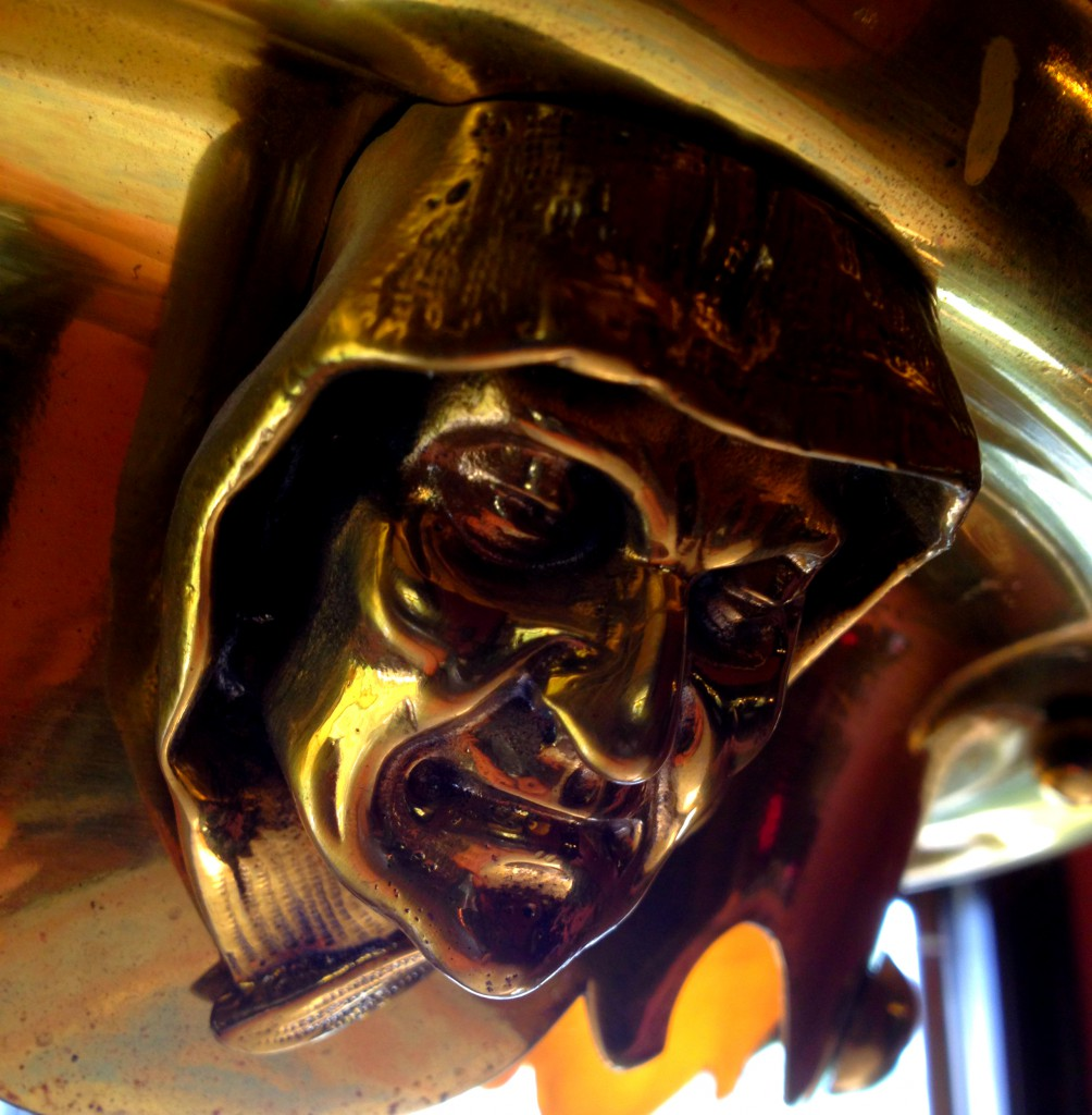 This Face is on the Light Fixture in Amos Giles Rhodes' Study - History Atlanta 2014