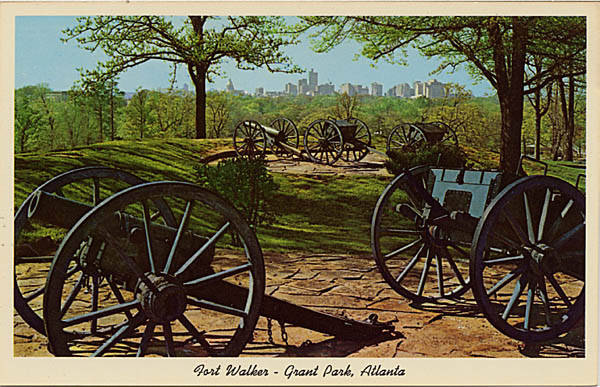 Fort Walker  in Grant Park in an undated Postcard - Georgia Archives