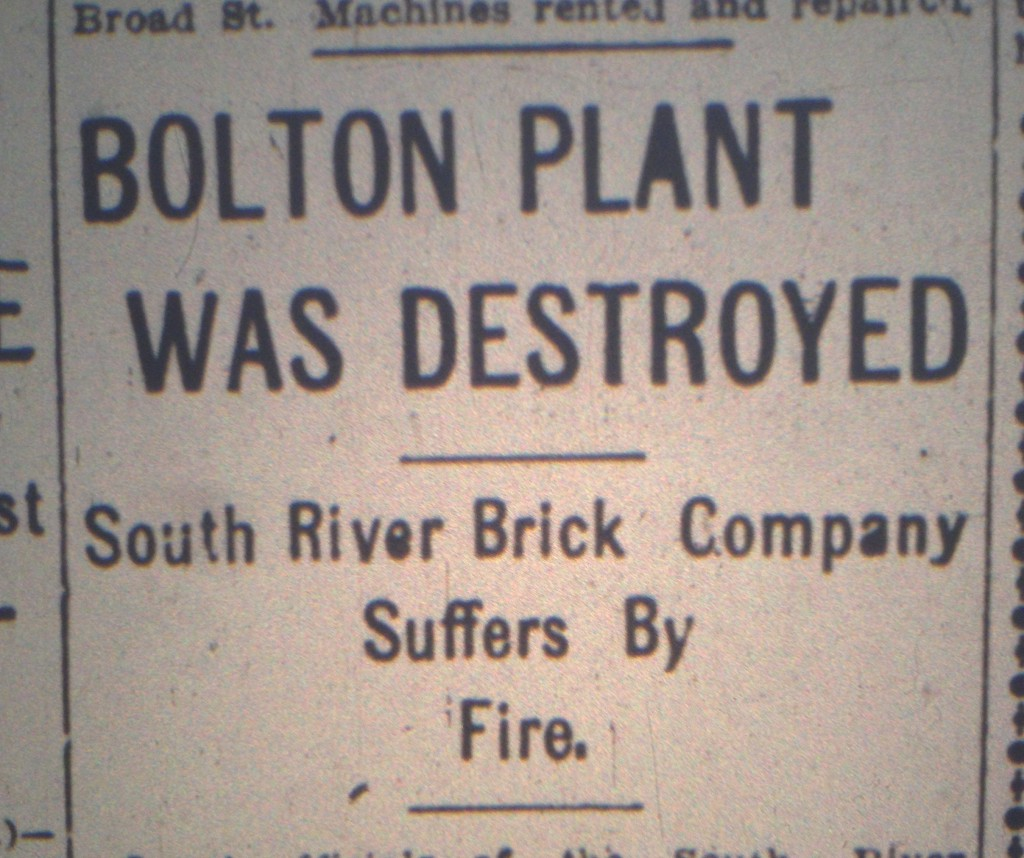 Headline in the Atlanta Constitution on March 25th, 1907 Reporting The Destruction of the South River Brick Bolton Plant - History Atlanta 2014