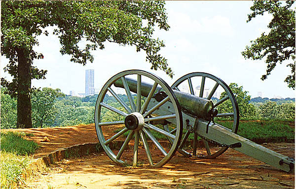 The Atlanta Skyline from Fort Walker in an Undated Photograph - The Guns Have Since Been Removed - Georgia Archives