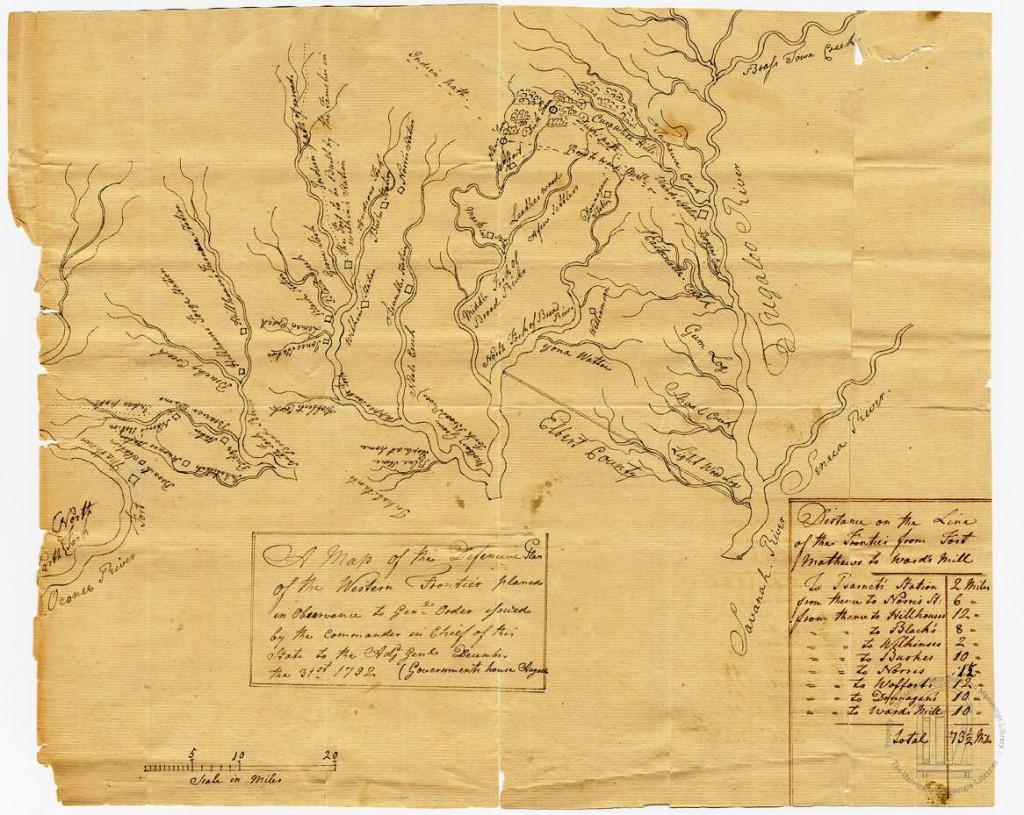 Wofford Map of the Forts in Georgia in 1792 - The Fort Daniel Foundation