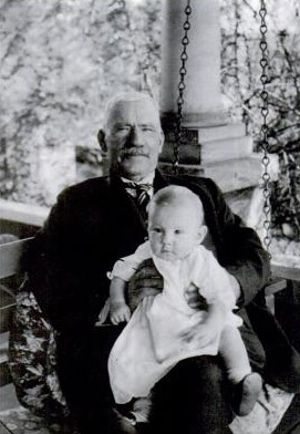 Judge John C. Todd with a grandson in 1920 - Courtesy of Ramona Liddell