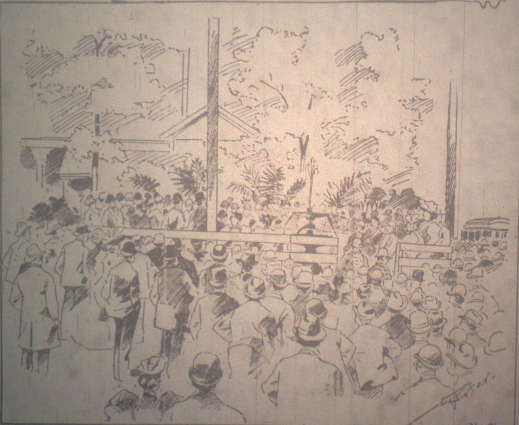 Sketch of the Dedication of the Erskine Memorial Fountain - Atlanta Constitution May 3rd, 1896