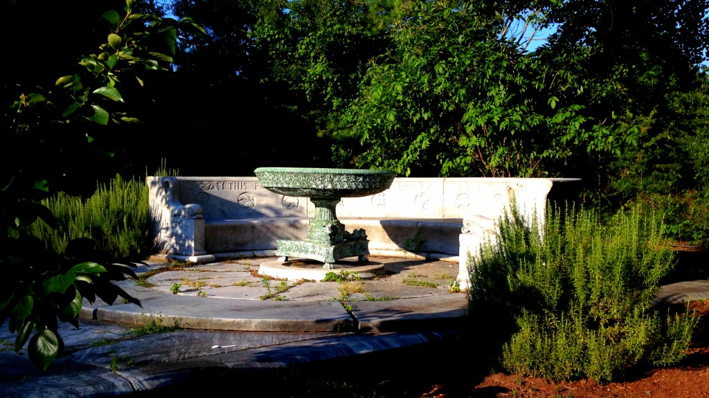 The Ersine Memorial Fountain in its Current Home - History Atlanta 2014