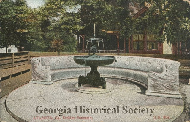 The Erskine Memorial Fountain in an Undated Postcard