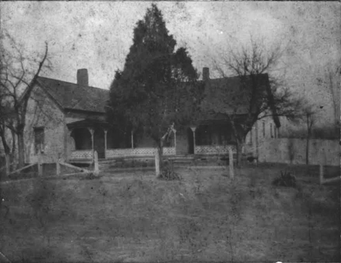 The First Todd Family home Built in 1823 - It Burned Down in 1910 - Phototgraph Courtesy of Romona Liddell