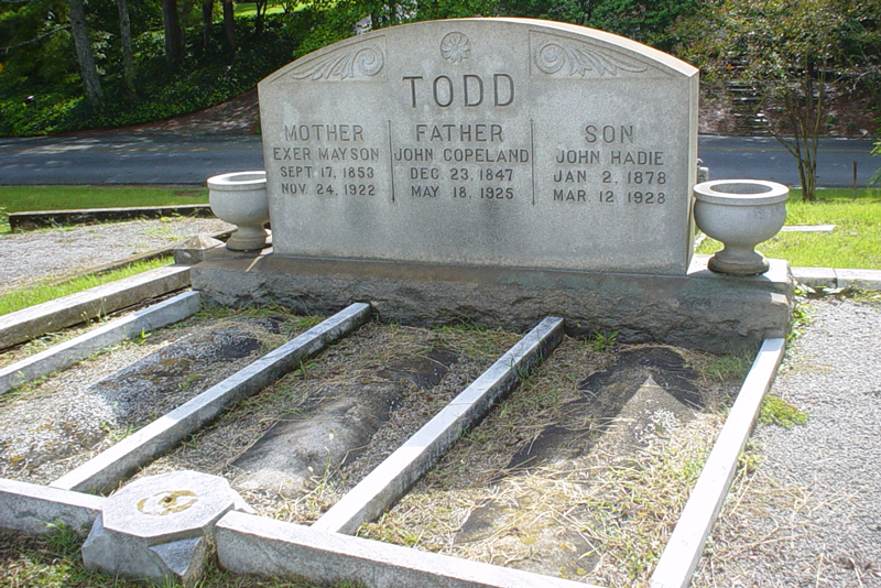 The John Todd Grave in Sardis - Andrew Wood 2008