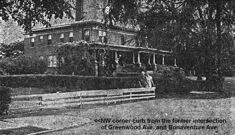The New Todd Residence called The Big House Built in 1910 with Emma May Liddell & her daughter Ellen Liddell Morgan in August of 1949 - Courtesy of the Atlanta Journal-Constitution