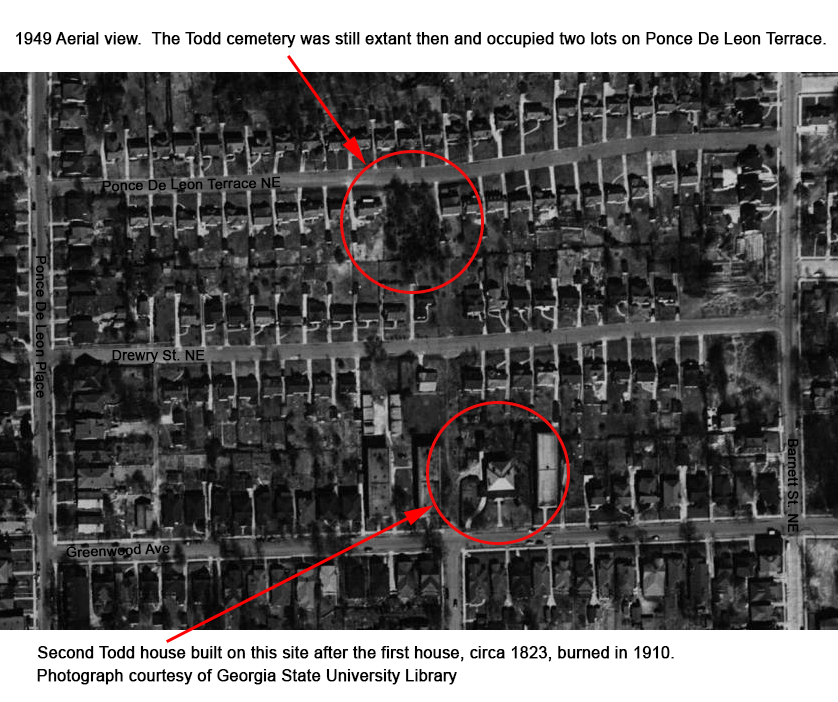 Todd Cemetery Aerial from 1949 - Georgia State University Library