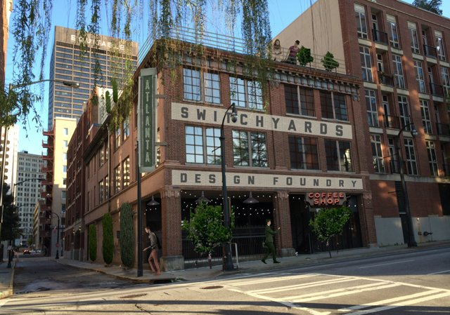 Rendering of the Switchyards Building Set to Open By the Summer of 2015 - Courtesy of Switchyards