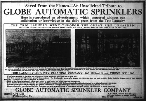 Saved by Sprinklers - The Trio Building survived the Great Atlanta Fire of 1919 - Georgia Archives