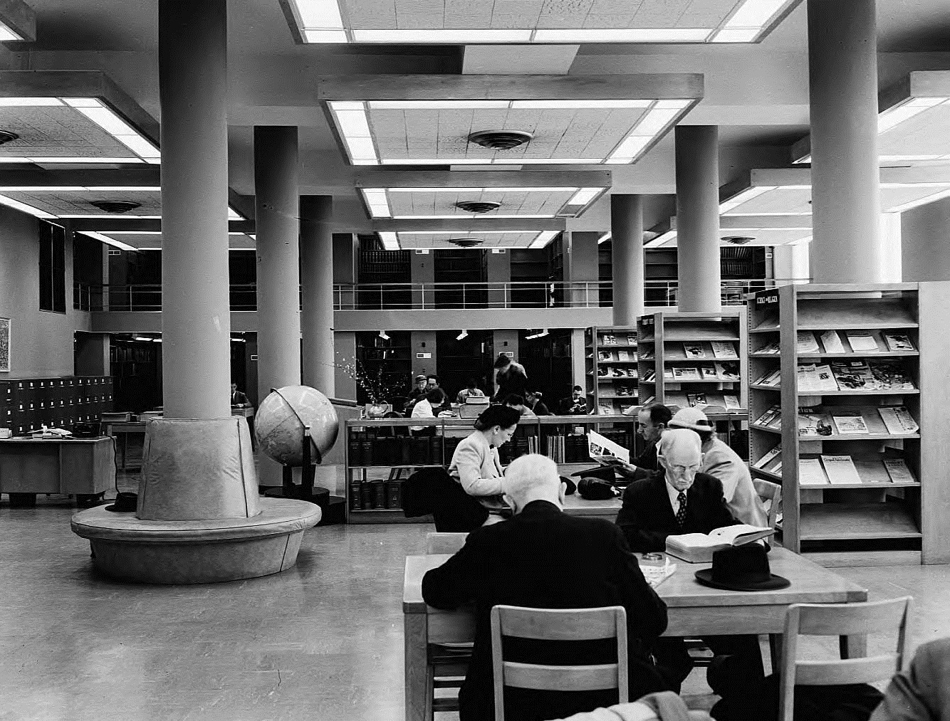 Carnegie Library Atlanta Interior January 2, 1952 - Georgia State University Library