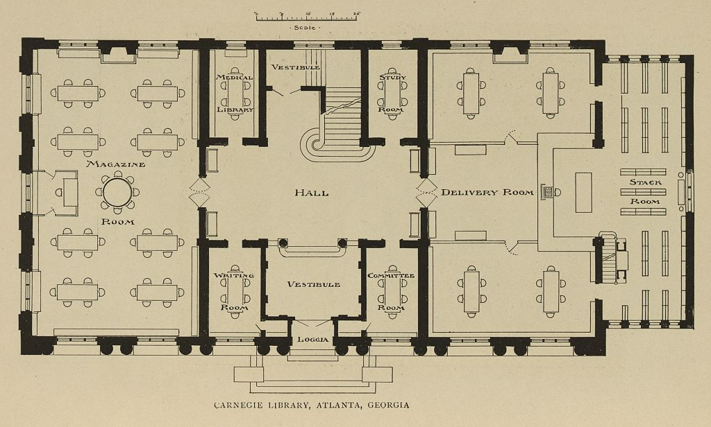 Carnegie Library Atlanta Plans from 1917 - Georgia State University Library
