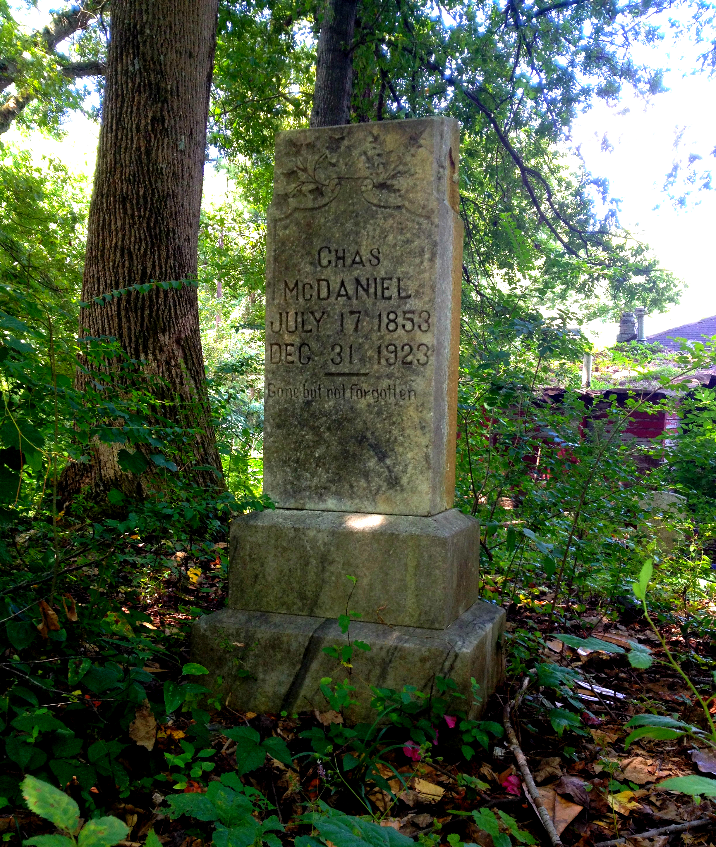 Chas McDaniel Died December 31st, 1923 - Thomasville Cemetery - History Atlanta 2014
