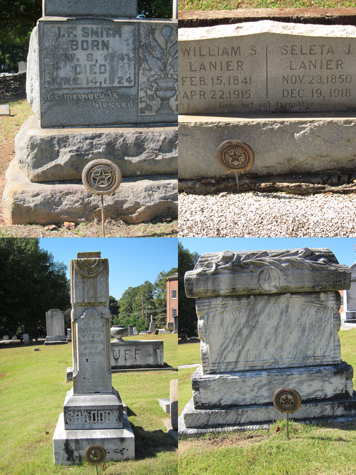 Circular medallions of a new type that I have not seen before mark the graves of Confederate veterans - Ray Keen 2014