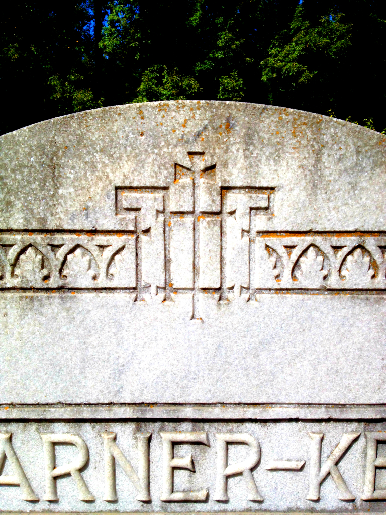 Closeup of the Garner-Key Headstone at Sardis Cemetery in Atlanta - History Atlanta 2014