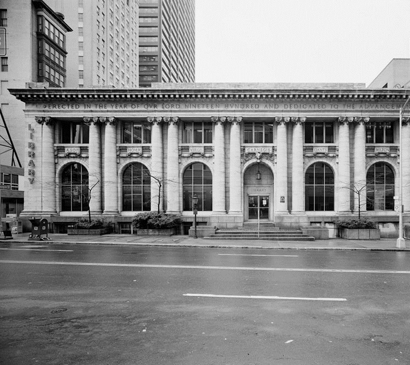 Eastern Half of North Front - Carnegie Library of Atlanta formerly at 126 Carnegie Way in Downtown Atlanta - Georgia State University Library