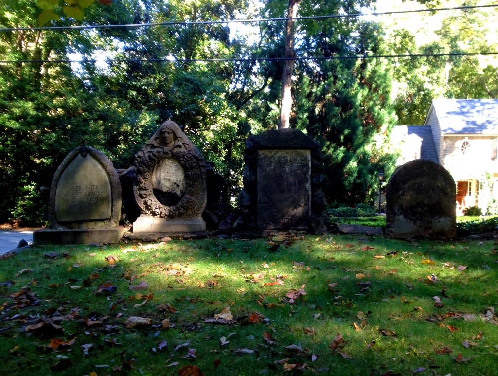 Krause Family Headstones at Harmony Grove Cemetery - History Atlanta 2014