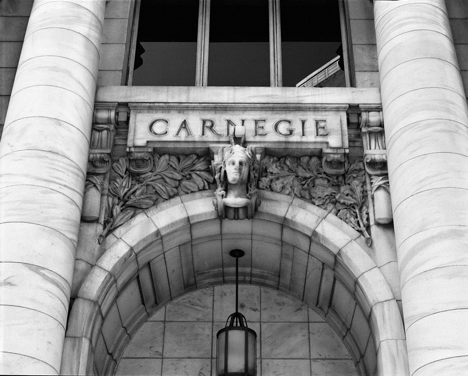 North Front Detail of Decoration Above Entrance of the Carnegie Library Atlanta - US Library of Congress