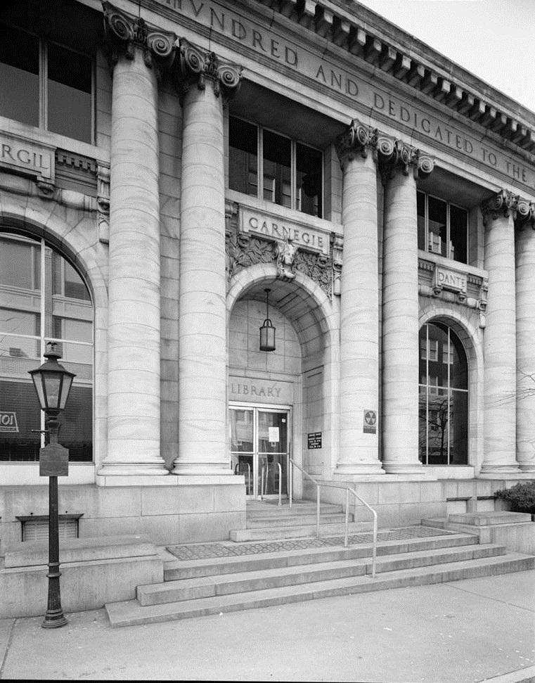North Front Entrance and Flanking Windows - Carnegie Library Atlanta - US Library of Congress