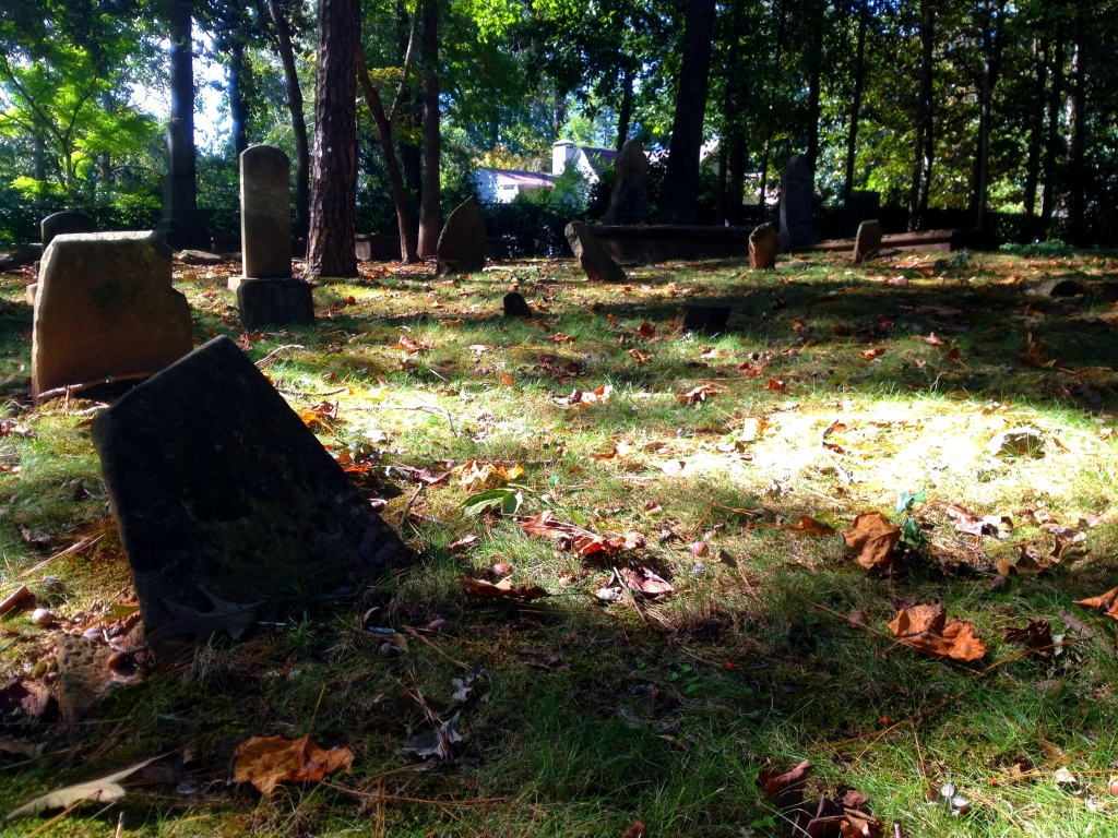 Some of the Fieldstone Burial Markers at Harmony Grove Cemetery - History Atlanta 2014