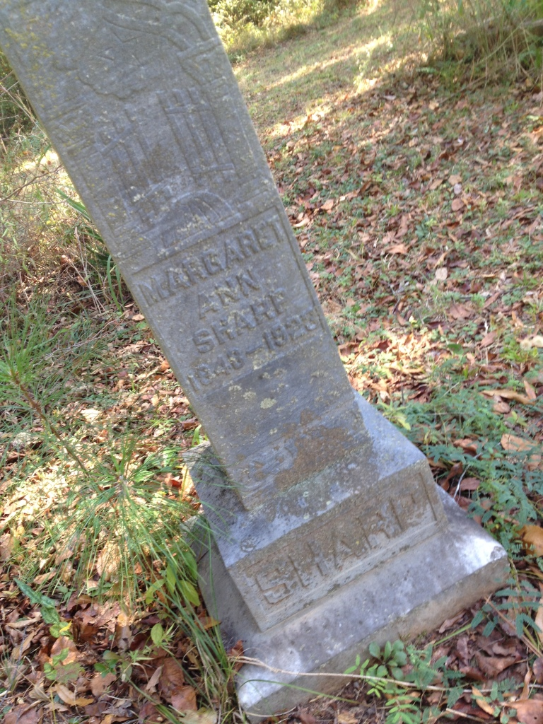 The Grave for Margaret Anne Sharp, Died 1928 at Scottdale Mills Cemetery - History Atlanta 2014