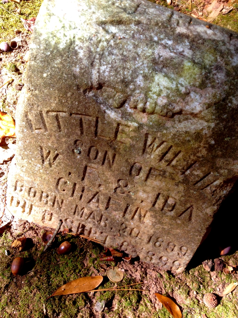The Grave of Little Willie Chafin - Born and Died in 1899 Buried in Harmony Grove - History Atlanta 2014
