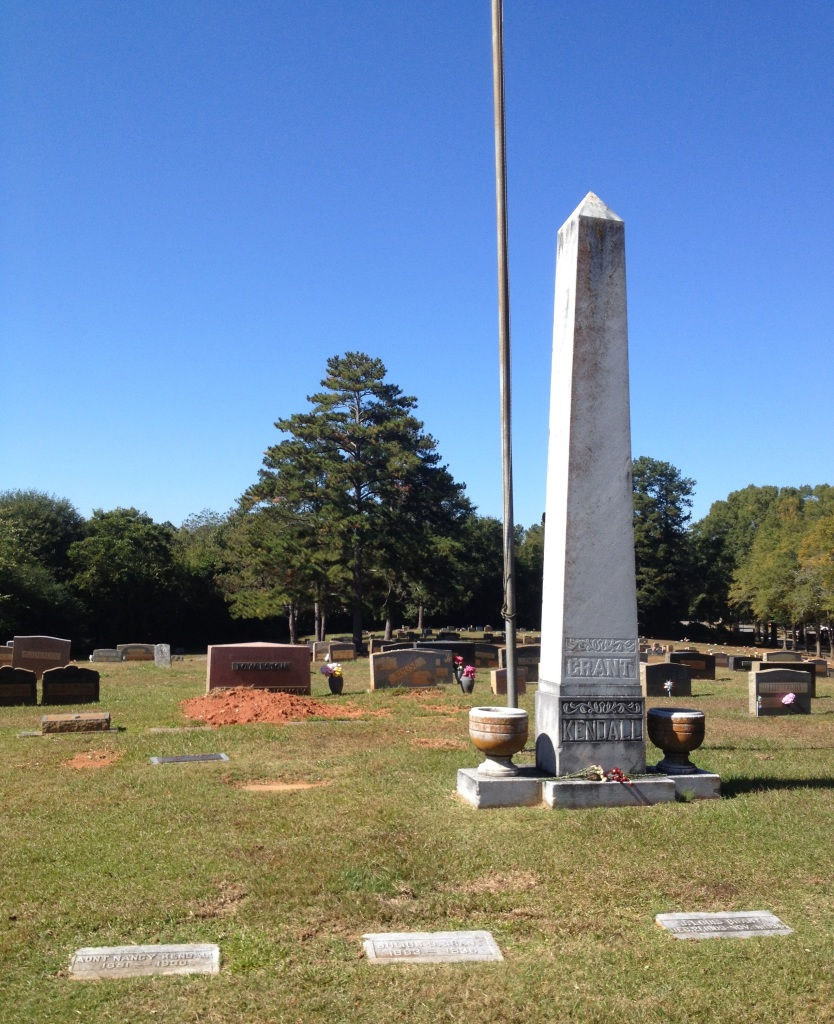 The Grave of Tobie Grant at Washington Memorial Gardens - History Atlanta 2014